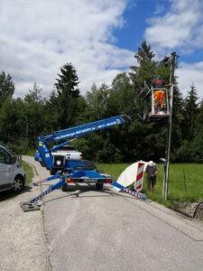 Starnberger Mietgeraete, AH14 Arbeitsbühne in Seeshaupt
